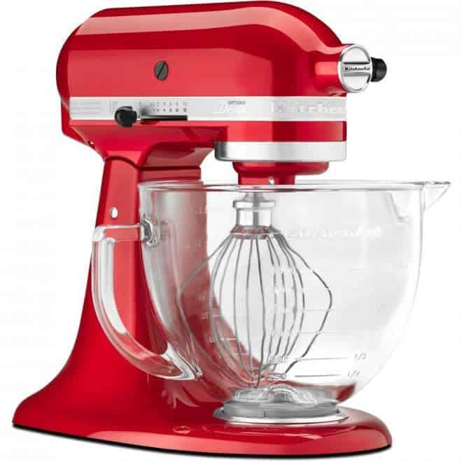 Red kitchenaid stand mixer