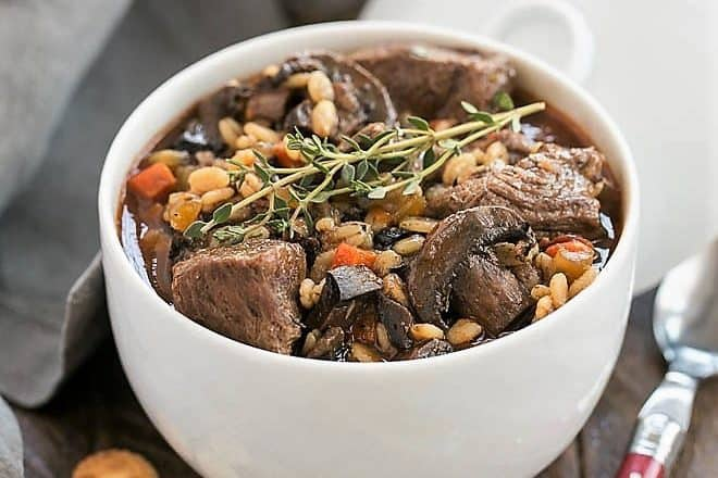 Beef Mushroom Soup with Barley featured image