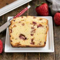 Fresh Strawberry Pound Cake slices