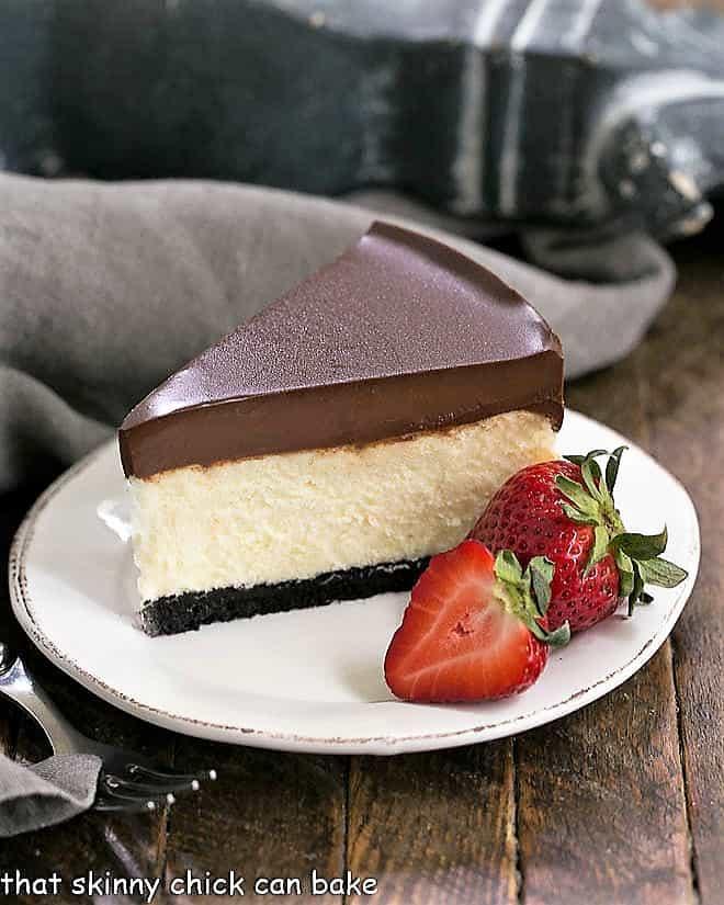 Ganache Topped Cheesecake