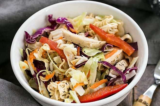Asian Ramen Noodle Salad with Chicken featured image