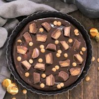 Overhead view of Reese's Peanut Butter Pie