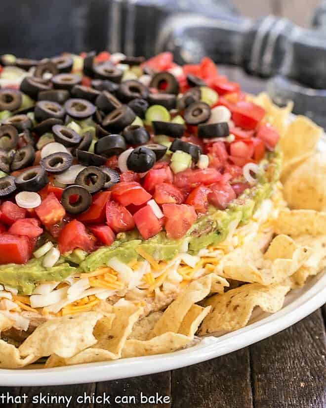 Side view of 7 Layer Dip