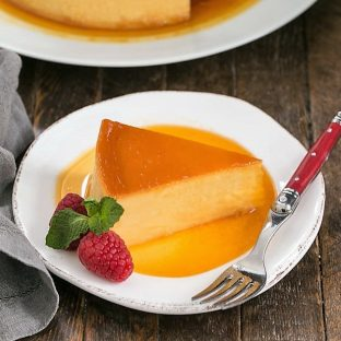 Cream cheese flan featured image