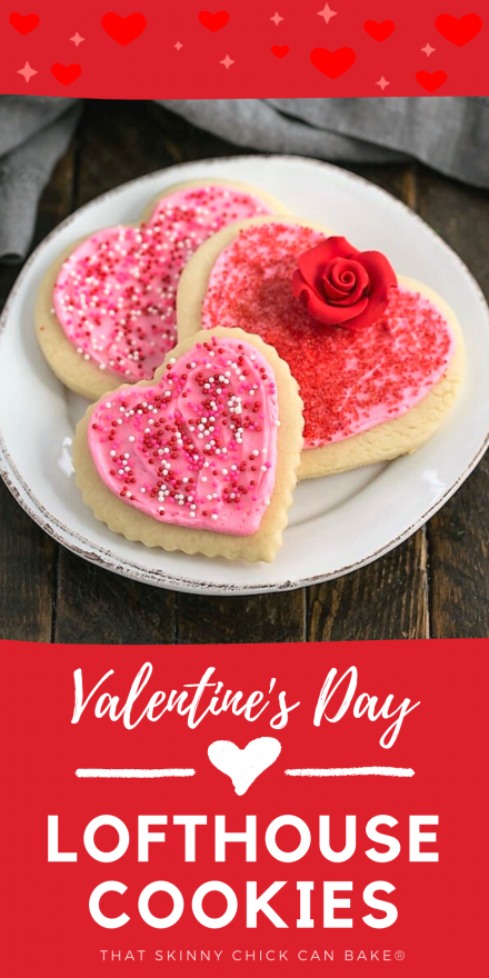 Lofthouse cookies for Valentine's Day collage